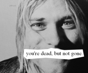 nirvana, kurt cobain, and dead image