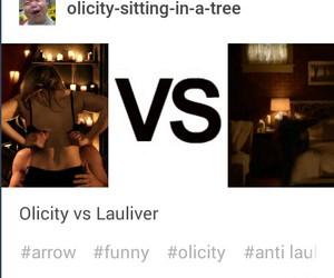 arrow, love, and felicity smoak image