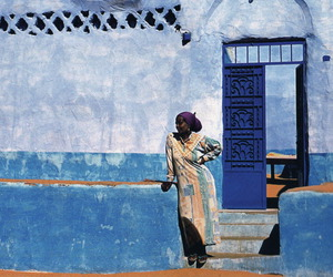 blue, egypt, and woman image