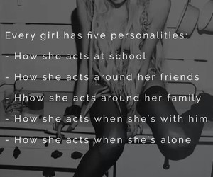 girl, personality, and family image
