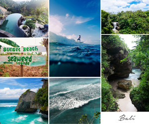 beaches, blue, and travel image
