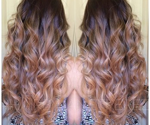 blonde, brown hair, and curls image