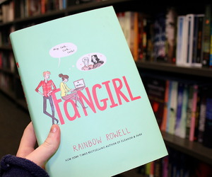 book, fangirl, and tumblr image