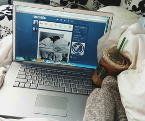 tumblr, starbucks, and bed image