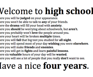 high school, quotes, and school image