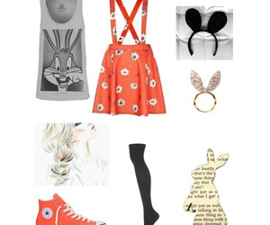 bunny, clothes, and fashion image