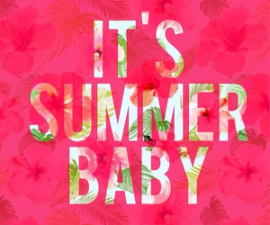 summer, baby, and pink image