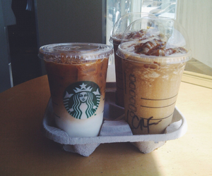 drink, starbucks, and coffee image
