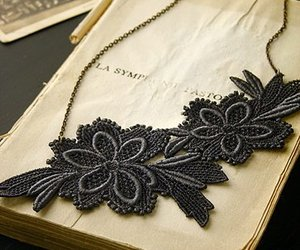 black, book, and flora image