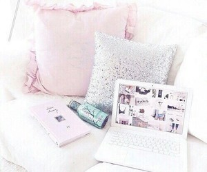 pink, room, and pillow image
