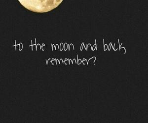 black, moon, and night image