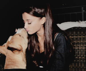 ariana grande and dog image