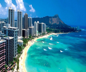 beach and Honolulu image
