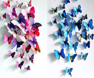 blue, fashion, and butterfly image