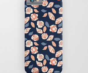 blue, floral, and roses image