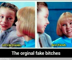 best friend, funny, and fake image
