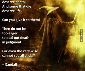 gandalf, lord of the rings, and quote image