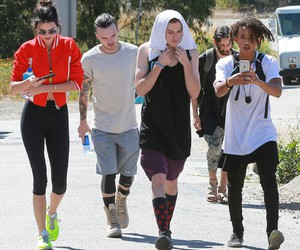 candid, celebrities, and hike image