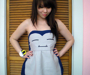 adorable, snorlax, and dress image