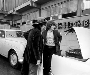 b&w, the rolling stones, and mick jagger image