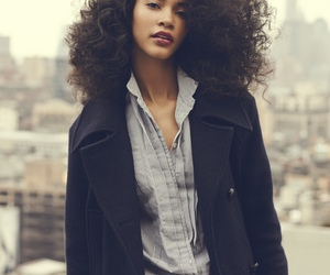 black woman, model, and curly hair image