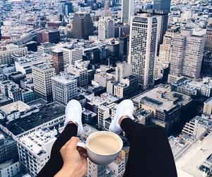 coffee, new york, and skyscraper image