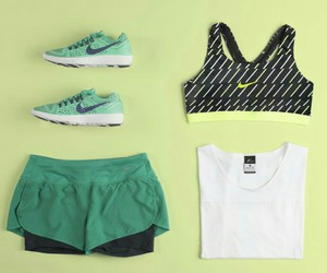 fit, girl, and green image