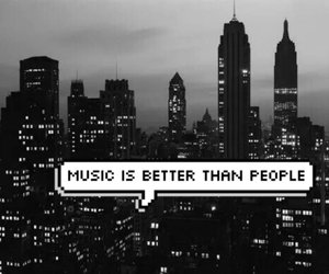 black and white, life, and music image