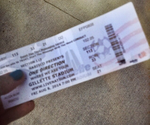ticket, 1d, and 5sos image