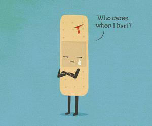 hurt, funny, and sad image