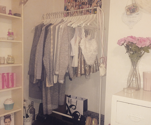 clothes, flowers, and room image
