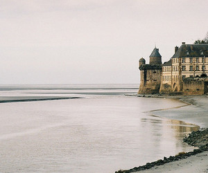 beach, castle, and city image