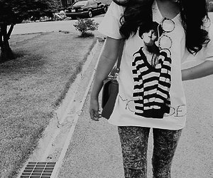 black and white, girl, and fashion image