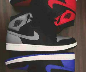 blue, red, and shoes image