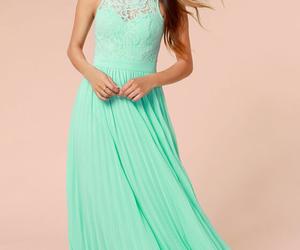 dress, mint, and prom dress image