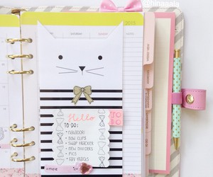 girly, pink, and planner image