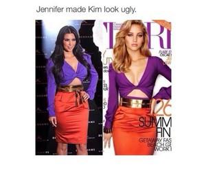 Jennifer Lawrence, kim kardashian, and funny image
