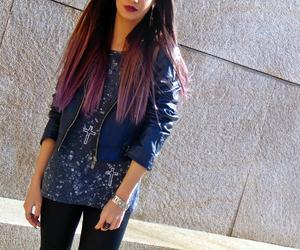 hair, lips, and long hair image