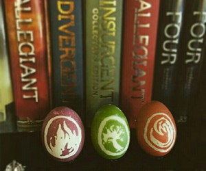 books, colors, and eggs image
