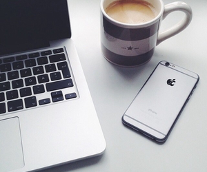 apple, coffee, and iphone image