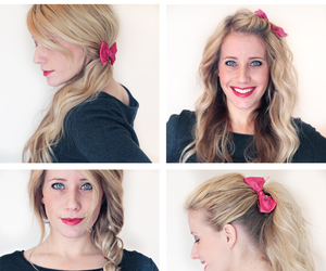 bow, hair, and hairstyles image
