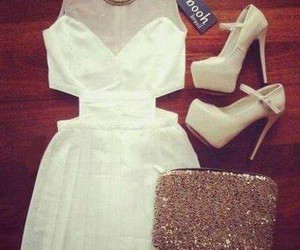 chic, white, and clothe image