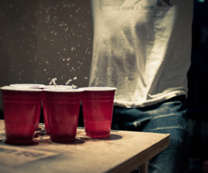 beer pong and photography image