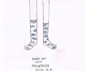 drawing, moustache, and socks image