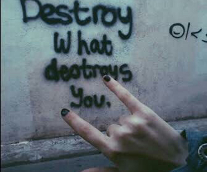 grunge, destroy, and quotes image
