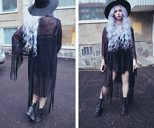 pastel goth, black, and dark image