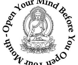 mind, quote, and Buddha image