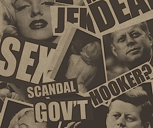 Marilyn Monroe, black and white, and scandal image