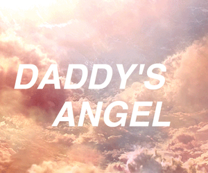 aesthetic, angel, and clouds image