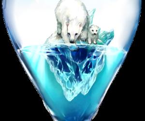 art, Polar Bear, and time image